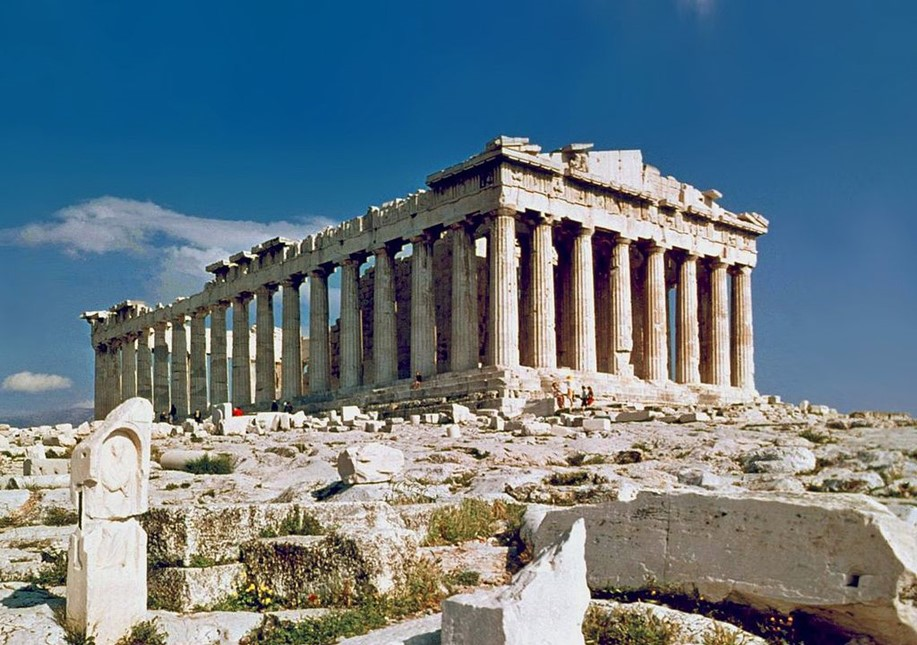 Parthenon, Athens Greece. Photo taken in 1978.