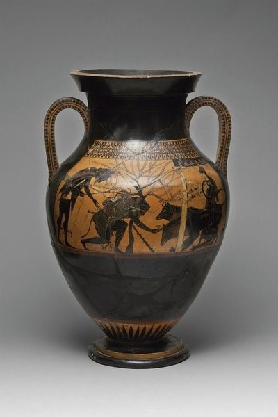 The Andokides Painter. Black-figure amphora depicting Heracles and Cerberus (about 530 BC)