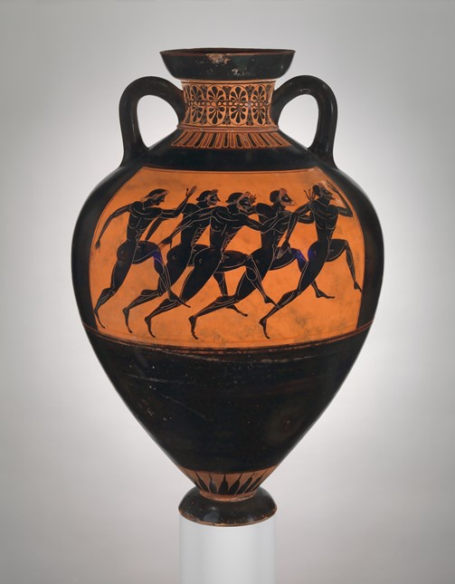 Terracotta Panathenaic prize amphora,ca. 530 B.C. Attributed to the Euphiletos Painter - The Metropolitan Museum of Art