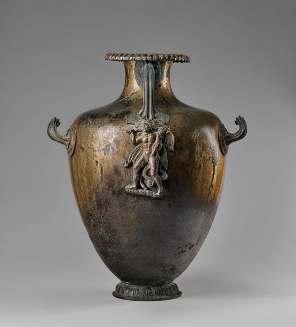 Kalpis, mid-4th century B.C., Bronze 48 × 39.6 × 31.5 cm (18 7/8 × 15 9/16 × 12 3/8 in.), 79.AC.119 The J. Paul Getty Museum, Villa Collection, Malibu, California